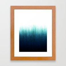 Teal Ombré Framed Art Print