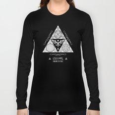 Legend of Zelda Kingdom of Hyrule Crest Letterpress Vector Art Long Sleeve T-shirt
