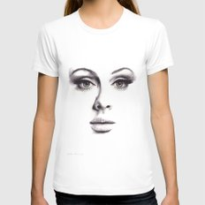 Adele  Womens Fitted Tee White SMALL