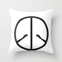 Peace struggle Throw Pillow