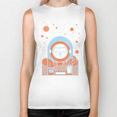 Orange Space Biker Tank