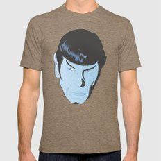 Live Long and Prosper Mens Fitted Tee Tri-Coffee SMALL