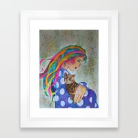 Love Flows Framed Art Print