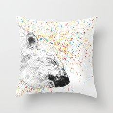 Polar Bear // Endangered Animals Throw Pillow