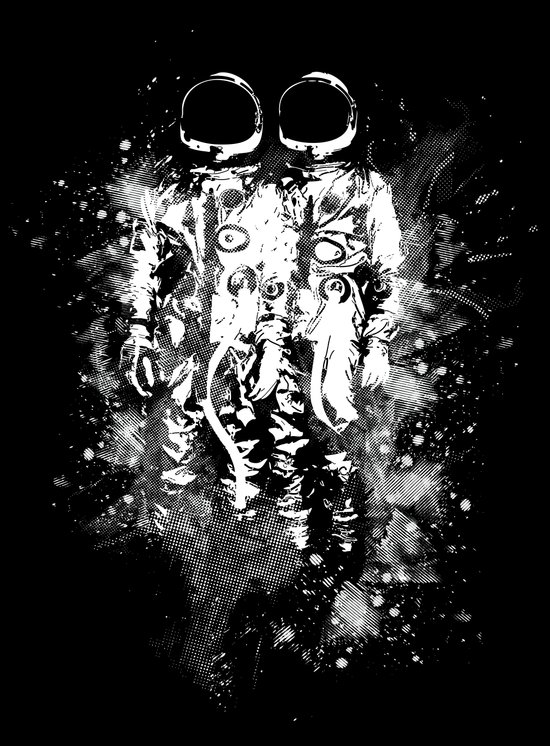 Space Twins Canvas Print