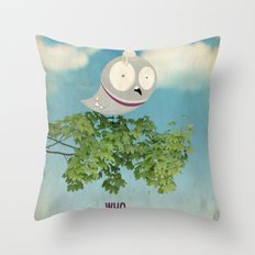 WHO SHOT THE PIGEON? Throw Pillow