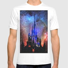 Fantasy Disney. Nebulae SMALL Mens Fitted Tee White