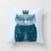 Owl King Throw Pillow