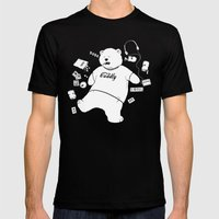 Lonely Nights Mens Fitted Tee Black SMALL