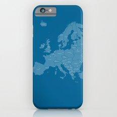 Europe map - blue iPhone 6 Slim Case
