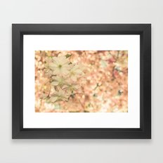a sunny day in spring Framed Art Print