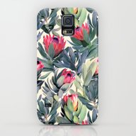 Painted Protea Pattern Galaxy S5 Slim Case