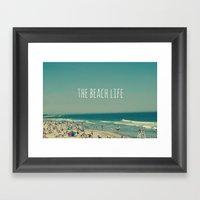 The Beach Life Framed Art Print