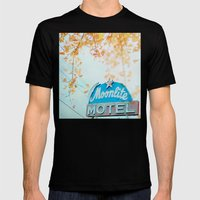 Meet Me At The Moonlite Mens Fitted Tee Black SMALL