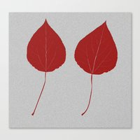 Leafs Rouge Canvas Print