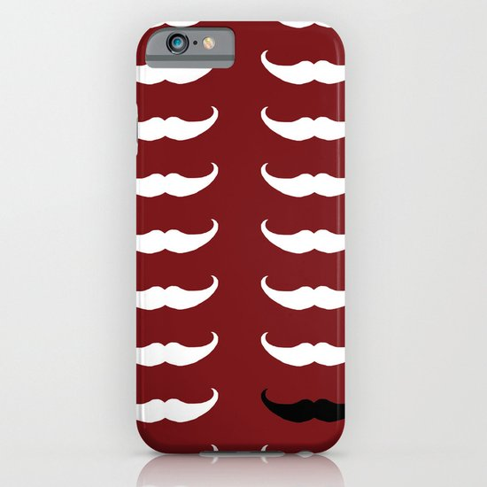 White Mustache Black Mustache iPhone & iPod Case