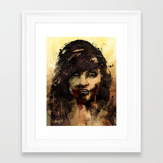 Female Zombie Framed Art Print