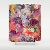 Shower Curtain featuring Flower Carpet(40). by Mary Berg