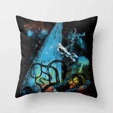 diving danger Throw Pillow