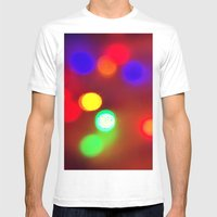 Colourful Lights Mens Fitted Tee White SMALL