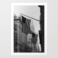 New York, NY.  Patriotism Art Print