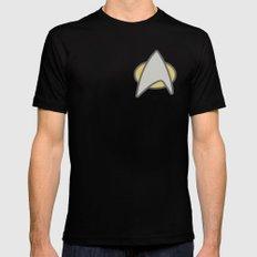 Star Trek, Communicator, 2 Black SMALL Mens Fitted Tee