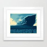 Teahupo'o Wave Print Framed Art Print