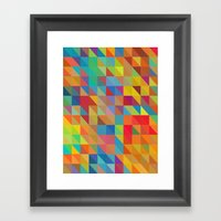Color Chaoses Framed Art Print