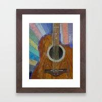 Guitar Sunshine Framed Art Print
