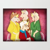 Golden Unicorns Canvas Print