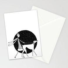 walking in a winter wonderland Stationery Cards