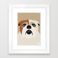 Bulldog Framed Art Print