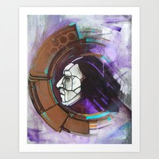 Digital Native - face Art Print