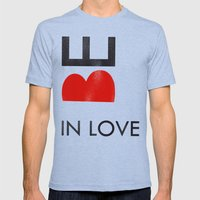 BE IN LOVE Mens Fitted Tee Tri-Blue SMALL