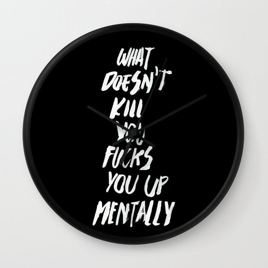 Mentally, alternative Wall Clock