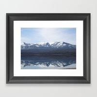 Flathead Lake  Framed Art Print