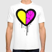 Broken Heart Mens Fitted Tee White SMALL