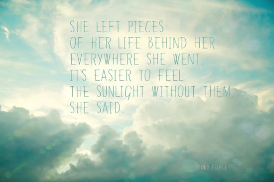 she left pieces of her life behind Art Print