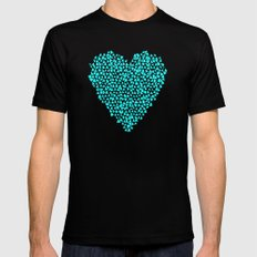 All The Pieces Of My Heart SMALL Black Mens Fitted Tee