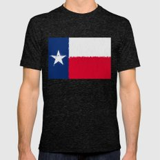 Texas state flag  Mens Fitted Tee Tri-Black SMALL