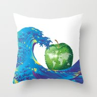Hokusai Rainbow & An App… Throw Pillow