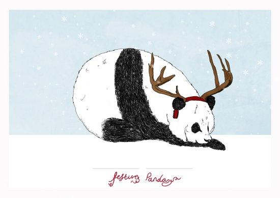 Festive Panda Canvas Print