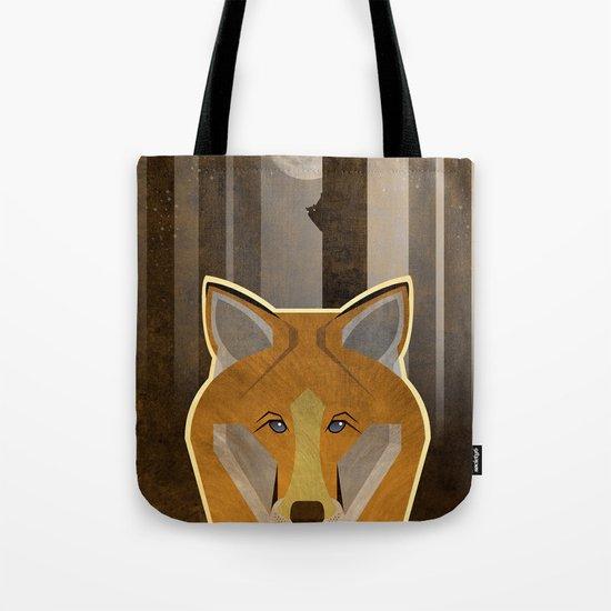 Night Fox Tote Bag