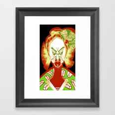 Friendly No Face v2 Framed Art Print