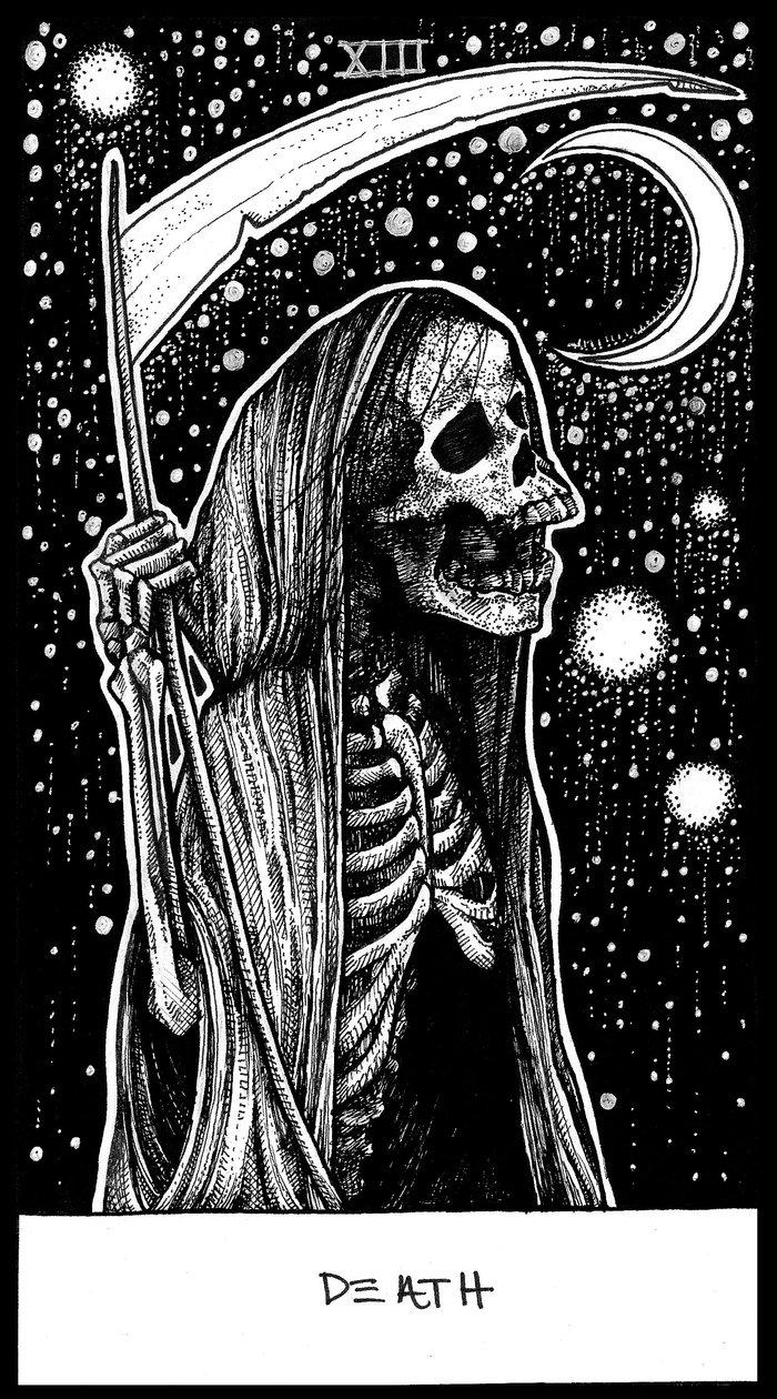Death Tarot Art Print By Corinne Elyse Society6