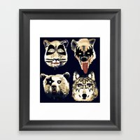 Give me a kiss Framed Art Print