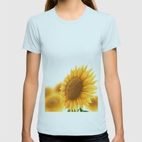 Sunflower Womens Fitted Tee Light Blue SMALL