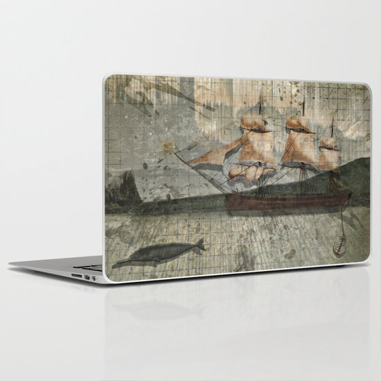 paper III :: octopus/ship Laptop & iPad Skin