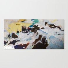 Next Plateau (Rock and Snow) Canvas Print
