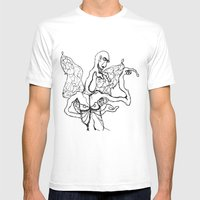 I'm A Little Butterfly Mens Fitted Tee White SMALL